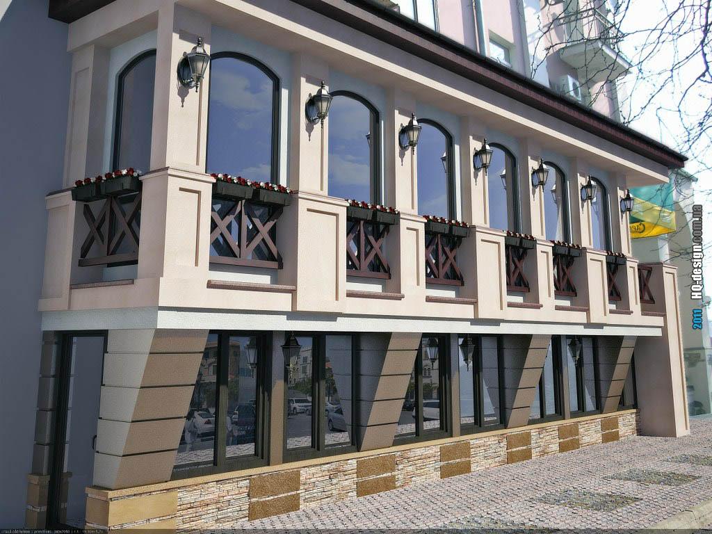 Балконы в общественных зданиях.